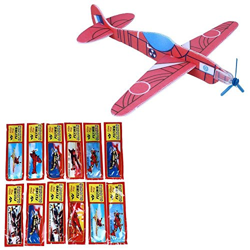 Newin Star newin-12verschiedene Fliegen Glider Planes Flugzeug mit Propeller für Kinder Spielzeug für Party Tasche Füllstoffe