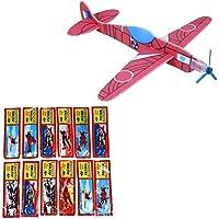 Newin Star 12 aviones voladores surtidos con hélices, bolsa de fiesta para niños, juguetes