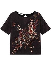 Promod Kurzarmshirt aus Materialmix