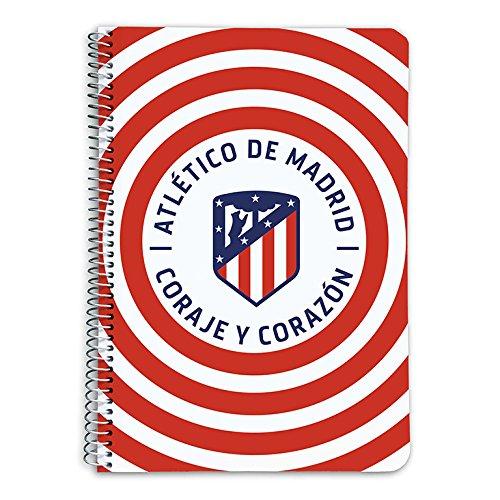 Grupo Erik Editores Cuaderno Tapa Dura A5 5X5 Atletico De Madrid