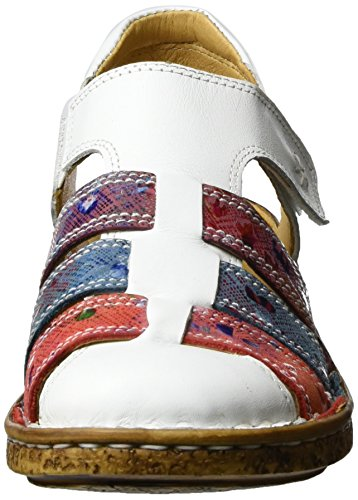 Comfortabel Damen 720109 Slingback Sandalen Weiß (Weiß)