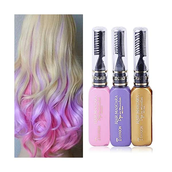 Beito 1 UNID Not tóxico Lavable Tiza para el pelo Tinte temporal para el cabello Tiza para el cabello Tinte para el…