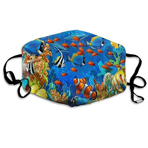 nierte Mundmaske Anti-Staub Bunte Aquarell Blume Gesichtsmaske Atmungsaktive Maske mit Verstellbarer Ohrschlaufe Windproof und Warm Fashion2 ()