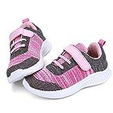 HKR Turnschuhe Jungen Sportschuhe Mädchen Hallenschuhe Kinder Kinderschuhe Sneaker Outdoor Laufschuhe für Unisex-Kinder Schuhe Pink EU 29