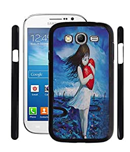 Fuson PVC-2D Metallic Sweat Girl stand Printed Premium Designer Back Case Cover for Samsung Galaxy Grand /Neo I9082/I9060 - RD614