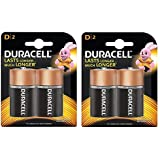 Duracell Alkaline D Battery, With Duralock Technology - 2 Pieces (Pack Of 2) (D2)