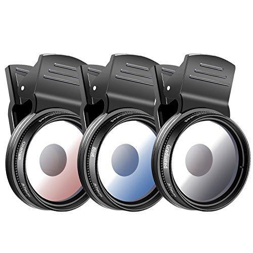 Neewer 3-teilige 37mm Handy-Kamera-Objektiv-Filterset für iPhone Samsung Galaxy Windows und Android...