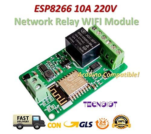 ESP8266 10A 220V Network Relay WIFI Module Input DC 7V~30V |ESP8266 10A 220V-Netzwerkrelais WIFI-Modul Eingang DC 7V ~ 30V -