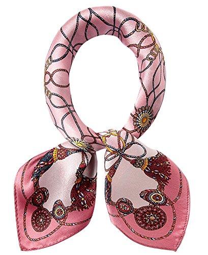 EEVASS Multifunzione Sciarpa Raso Quadrato Foulard di Seta Moda per Donna