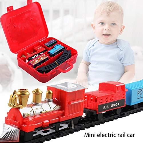 LyhomeO Trenino di Natale Insieme Educativo Elettrico del Treno Ferroviario del Giocattolo dei Bambini del Vagone del Treno Elettrico di Natale