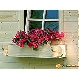 Bac à fleur en bois pour abri de jardin