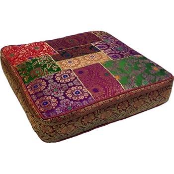 sitzkissen boden orientalisches eckiges patchwork kissen 40 cm bodenkissen mit baumwollfa 1 4 llung stuhl fur kinder