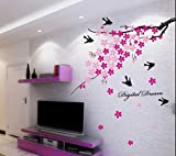 #10: Decals Design 'Flower Branch with Birds' Wall Sticker (PVC Vinyl, 50 cm x 70 cm)