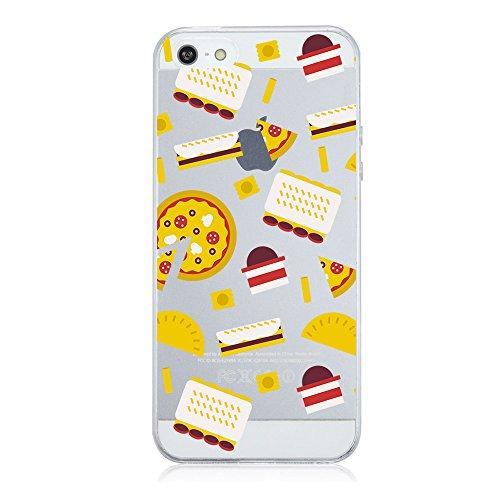 Qissy®TPU Case für iPhone 5 5S SE -Silikon-Hülle Soft Shell-Fall-Schutz Anti Shock Silikon Anti-Staub-beständig Tierischer Elefant (iPhone 5 5S SE, 5) 7