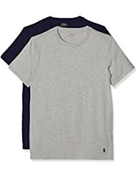 Polo Ralph Lauren Homme 2 T-shirts Paquet coton stretch, Multicolore, Large