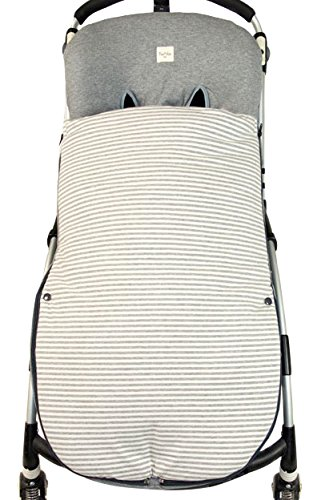 Fundas BCN ® - S23/0393 - Saco Universal Algodón para Sillas de Paseo - Entretiempo. Kodak Stripes.