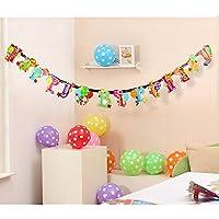 EQLEF® 2 modelli di compleanno del partito della decorazione Bunting bandiera della neonata bambini (Bunting Modello)
