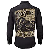 ROAD RODEO Worker Shirt, Langarm Hemd, Rock'n'Roll, Pick up, Schnaps, Moonshine