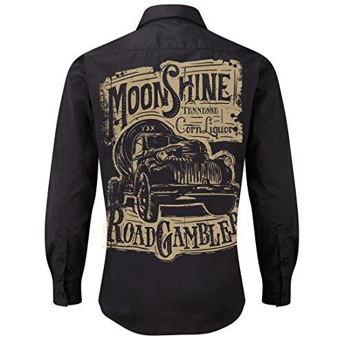 ROAD RODEO Worker Shirt, Langarm Hemd, Rock'n'Roll, Pick up, Schnaps, ()