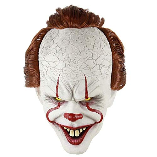 Scary Clown Killer - Clownsmaske,LianLe Halloween Scary Killer Maske Adult