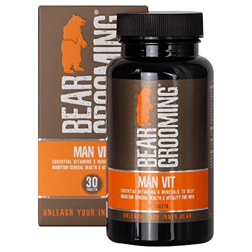 MAN-VIT 30 Kapseln (1 Monatsversorgung) Täglich essentielle Vitamine und Mineralien für Männer. Enthält 10 wichtige Vitamine und 8 Mineralien, die helfen, Müdigkeit zu reduzieren und das Immunsystem -