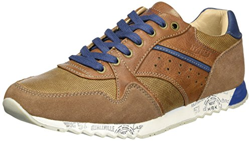 HIS 605067, Sneaker Basse Uomo Marrone