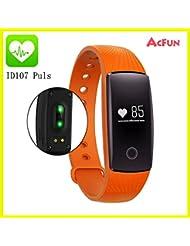 Acfun ID107 plus Fitness Armband Fitness Tracker Smartwatch, Bluetooth 4.0 Smart Armband Smart Watch Smart Band Herzfrequenz Monitor Sport Schlaf Armband Fitness Tracker Pulsmesser Pedometer  für Android IOS Smartphone
