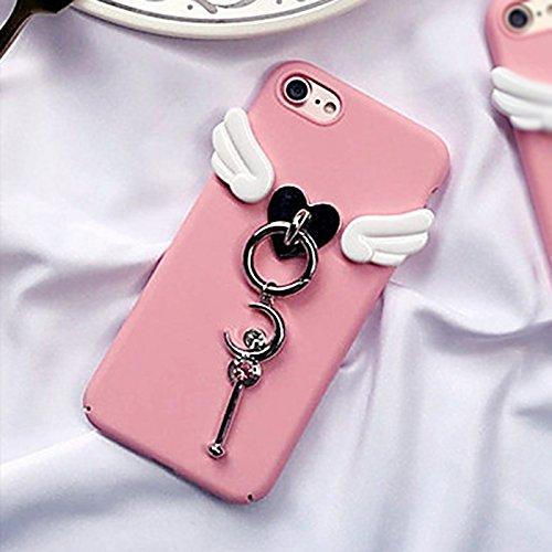 Phone case & Hülle Für iPhone 6 / 6s, 3D-Flügel und Mond-Zauberstab schützender rückseitiger Abdeckungs-Fall ( SKU : Ip6g0268b ) Ip6g0268a