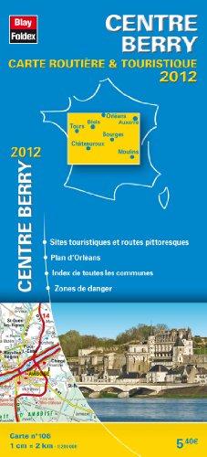 Centre - Berry, Carte Régionale Routière Touristique N°108. Plan du centre-ville d'Orléans - Echelle : 1/200 000, avec index - Edition 2012.