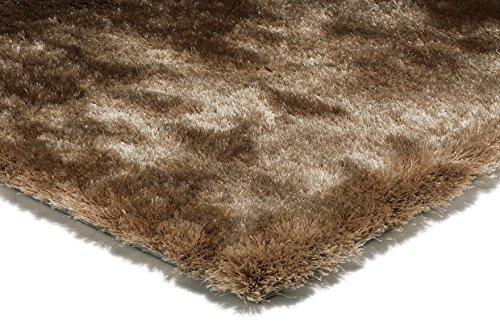 benuta - Alfombra (pelo largo), color marrón