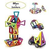Uping magnetische bausteine Magnetspielzeug Bauklötze 80 stücke Inspirierender Standard Bausätze für Kinder ab 3 Jahre als Lernspielzeug