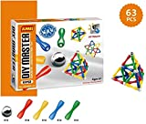 Magnetic Building Blocks Sticks (63 Pieces) | Educational STEM Toys Set for Kids
