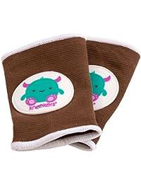 Kneekers - Rodilleras para bebé, diseño de monstruo feliz