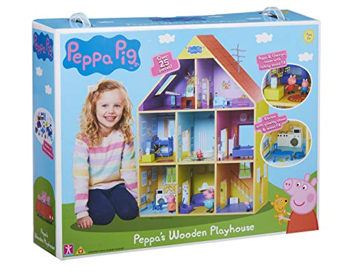 Peppa Pig CO07004 Wooden Playhouse, Multicoloured