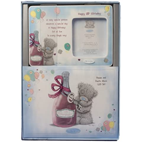 Me to You - Kit regalo per 18° compleanno, include una cornice portafoto e un album, motivo: Tatty Teddy