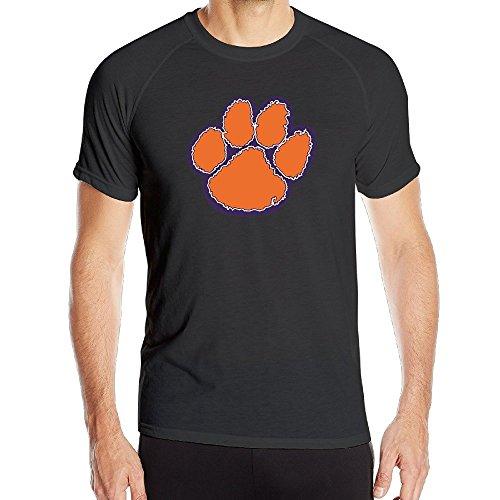 T&Tat Men's Clemson Tigers Paw Quick Dry Athletic Tshirt Medium (Tiger Athletic T-shirt)
