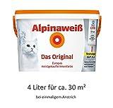 alpinaweiß–Le original, 4l mur blanc Couleur, haut pouvoir couvrant, couvre la première couche