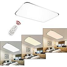 HG® 96W LED Deckenleuchte Lichtfarbe Und Helligkeit Einstellbar Esszimmer  Lampe Garderobe Energiespar Schlafzimmerleuchte