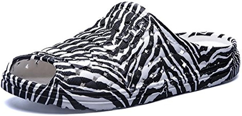 JIUYUE SHOES     Herren Sandalen  Zebra Schwarz   Größe: 39 EU