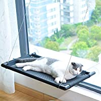 ANTOLE Cat Window Perch Cat Cat Hammock Bed with Upgraded Version 4 Suction Cups, Safest Cat Bed for Large Cat can Holds Up to 38lbs