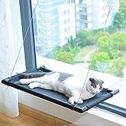 سرير للقطط على يثبت على الشباك من انتول باصدار محسن يتكون من 4 قطع تثبيت بالشفط، وهو سرير امن للقطط الكبيرة وي