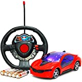 Tint Solutions® - Remote Control battery operated Super High Speed Racing Car with forward backward function 3D light projection Stylish Looks, Modern Design,RC Vehicle Toy for Kids. Assorted stock (RED COLOR)