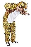 Tiger-Kostüm, AN28 Gr. XL, Für hochgewachsene Männer und Frauen, Tiger-Faschingskostüm, für Fasching Karneval Fasnacht, Karnevals-Kostüme, Faschings-Kostüme, Geburtstags-Geschenk Erwachsene