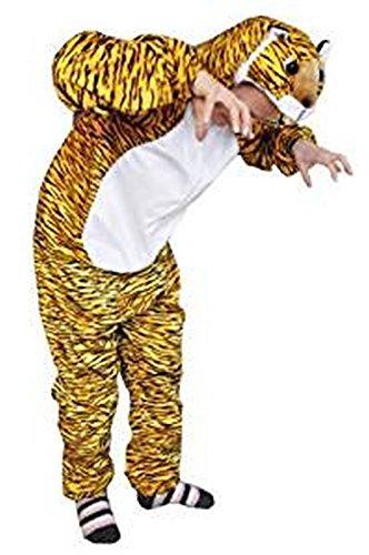 Tiger-Kostüm, AN28 Gr. XL, Für hochgewachsene Männer und Frauen, Tiger-Faschingskostüm, für Fasching Karneval Fasnacht, Karnevals-Kostüme, Faschings-Kostüme, Geburtstags-Geschenk ()