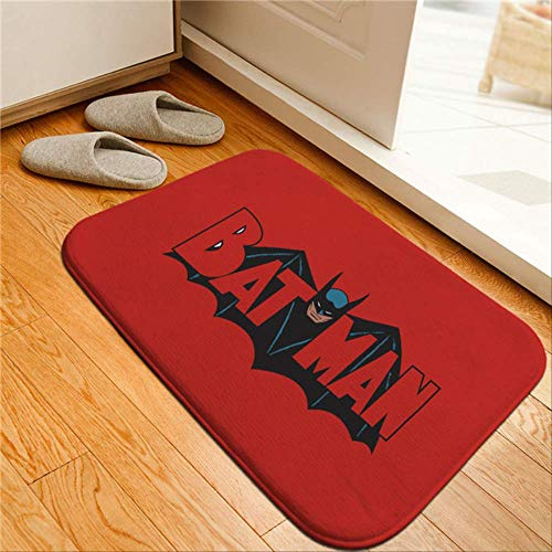 yingtengklk Batman Gedruckt Fußmatten Anti-Rutsch-Teppiche Muster Comics Teppiche Willkommen Fußmatte Superheld Küchenmatte Teppich Geschenk 40 cm x 60 cm JH01092-8