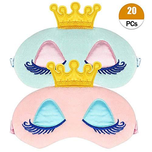 2 Stücke Schlafmaske Einhorn Nette Einhorn Horn Weichem Plüsch Augenbinde Augenabdeckung für Frauen Mädchen (Einhorn)