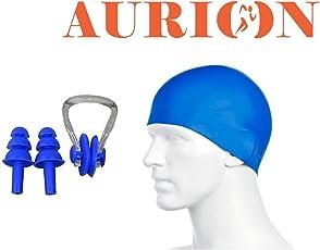 Aurion CAPNOSEEARPLUG Swimming Combo Set (Blue)