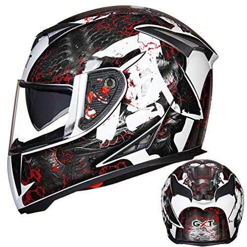 Doppio visiera casco integrale moto anti nebbia inverno caldo moto Caschi moto motocross racing tappi di sicurezza