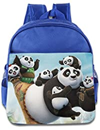 Toddler Kids Kung Fu Panda 3 School Backpack Funny Children School Bag RoyalBlue