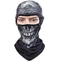 AZX Máscara para Deporte, Bufanda Bicibleta Senderismo Montañismo Motocicleta,Pañuelo de Cabeza,Pasamontañas Cara Completa Cuello máscara (Estilo D)